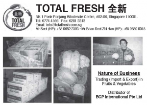 Total Fresh – Singapore Fruits & Vegetables Importers